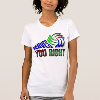 Serves you right tee shirts