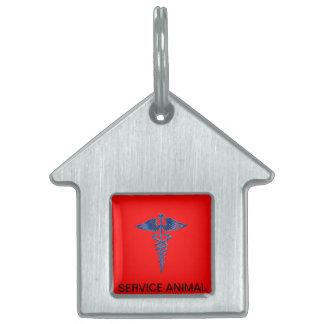 Service Animal Dog Tag With Medical Logo