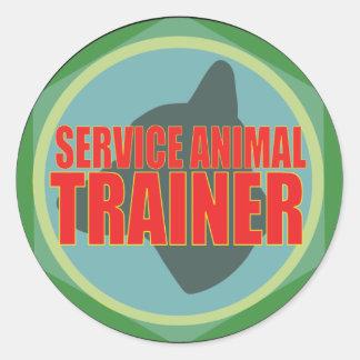 SERVICE ANIMAL DOG TRAINER CLASSIC ROUND STICKER