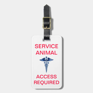 Service Animal ID - Access Required - With Medical Travel Bag Tags