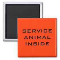 Service Animal Inside Door Magnet