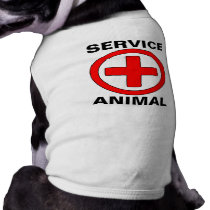 Service Animal Medical Therapy Dog Tank Top Tee