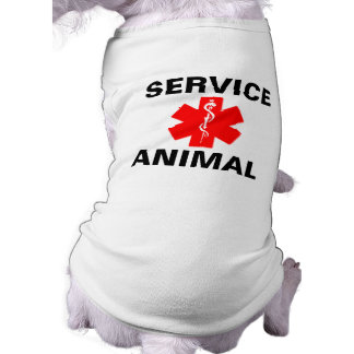 Service Animal Red Medical Alert Symbol Tank Top