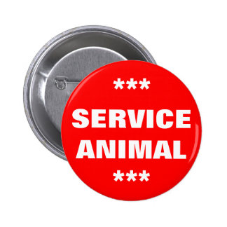 Service Animal Tag 2 Inch Round Button