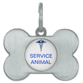 Service Animal Tag with Medical Logo