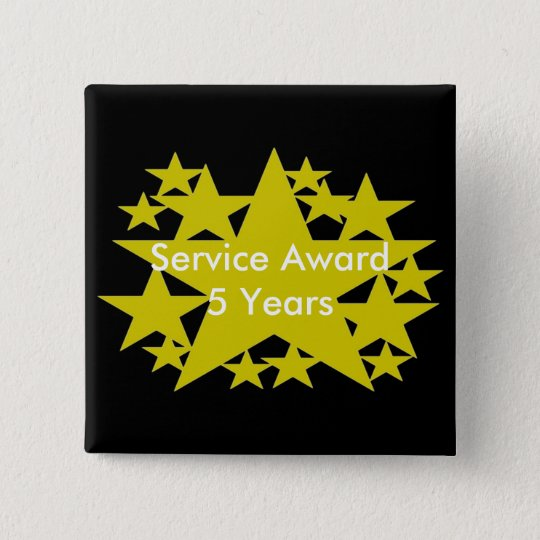 Service Award 5 Years Button