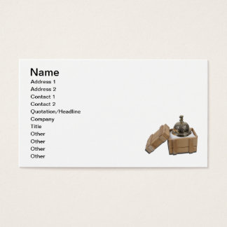 Service Bell in Shipping Crate Business Card