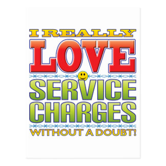 Service Charges Love Face Postcard