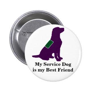 Service Dog 2 Inch Round Button