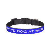 Service Dog At Work (small) Pet Collar