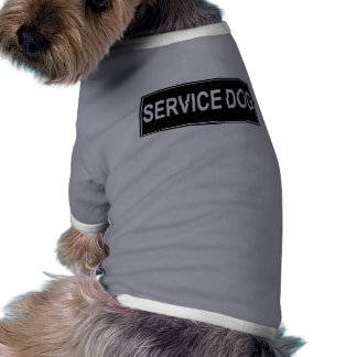 Service Dog Black Patch Style Pet T-Shirt Tank Top