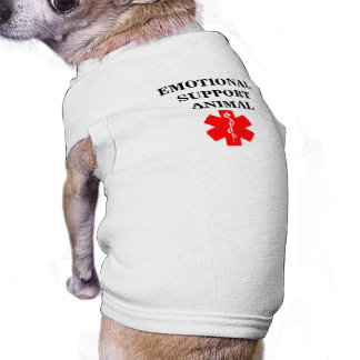 Service Dog Emotional Support Animal Tank Top Tee Doggie T Shirt