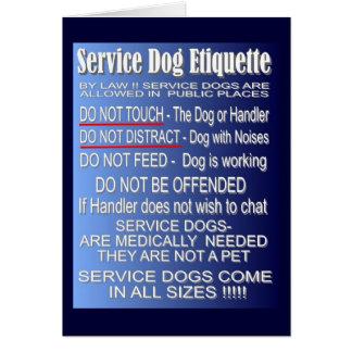 Service Dog Etiquette Card