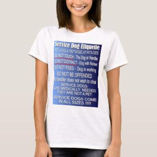 Service Dog Etiquette - Front Design T-Shirt