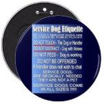 Service Dog Etiquette Pinback Buttons