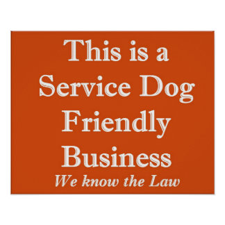 Service Dog Friendly Poster