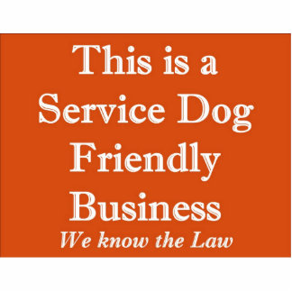 Service Dog Friendly Stand Up Sign Cutout