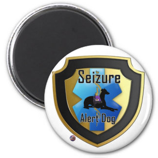 Service Dog Helpers Blue Jelly Fridge Magnet