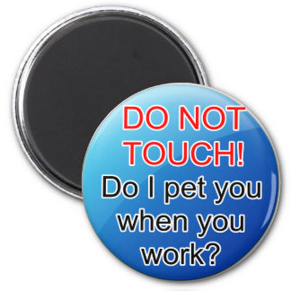 Service Dog Helpers Blue Jelly Refrigerator Magnets
