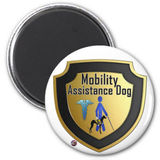 Service Dog Helpers Blue Jelly Magnet