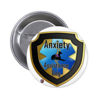 Service Dog Helpers Blue Jelly Pinback Button