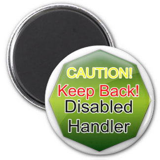 Service Dog Helpers Green Jelly Refrigerator Magnet