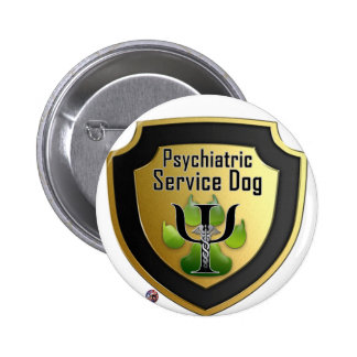 Service Dog Helpers Green Jelly Pinback Button