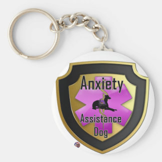 Service Dog Helpers Pink Jelly Keychain
