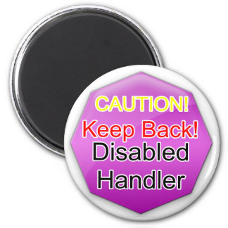 Service Dog Helpers Pink Jelly Refrigerator Magnets