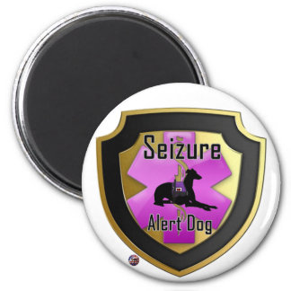 Service Dog Helpers Pink Jelly Magnet