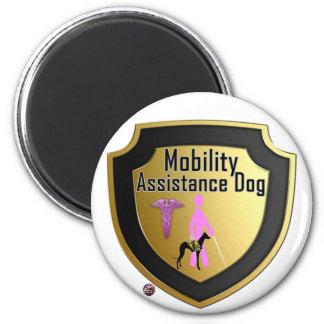 Service Dog Helpers Pink Jelly Fridge Magnet