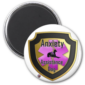 Service Dog Helpers Pink Jelly Fridge Magnets