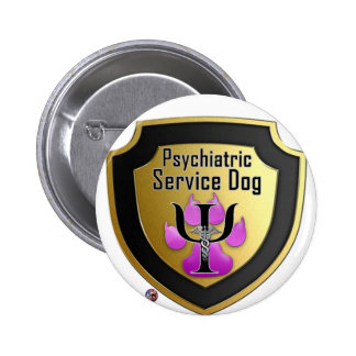 Service Dog Helpers Pink Jelly Pinback Button