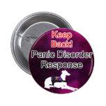 Service Dog Helpers Purple Space 2 Inch Round Button