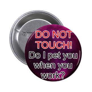 Service Dog Helpers Purple Space Pinback Button
