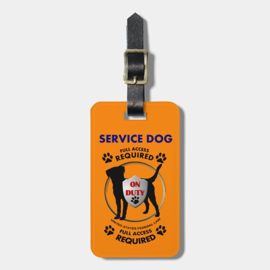 Service Dog ID Luggage Tag