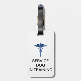 Service Dog In Training ID with Medical Logo Luggage Tag