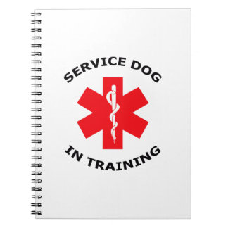 SERVICE DOG IN TRAINING SPIRAL NOTEBOOKS