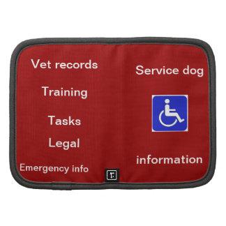 Service dog info planner