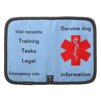 Service dog information planner