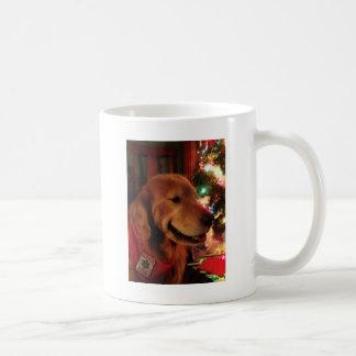 Service Dog Jonah & Christmas Tree Lights Coffee Mug