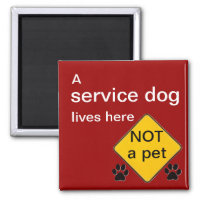 Service dog lives here magnet