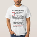 Service Dog Manners Front & Back Tshirt