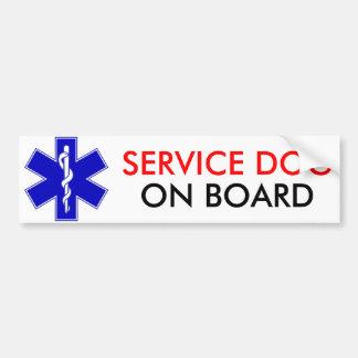Service Dog On Board Bumper Sticker