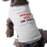 Service dog on duty doggie t-shirt