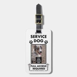 Service Dog Photo ID Bag Tag