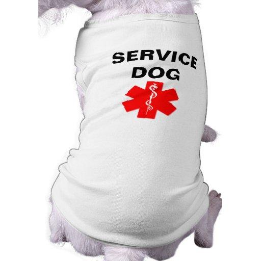 Service dog red medical alert symbol t shirt tank zazzle for Medical pet shirt dog