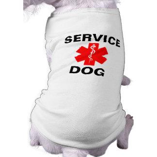 Service Dog Red Medical Alert Symbol T-Shirt Tank Dog Clothes