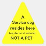 Service dog resides here sticker