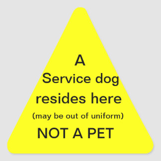 Service dog resides here sticker